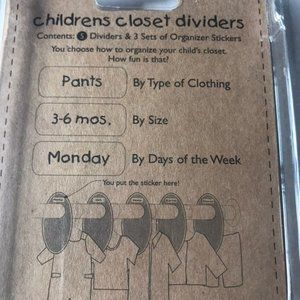 Storage & Organization - New set of closet dividers and labels